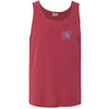 615 Area Code Tank - Red Comfort Colors