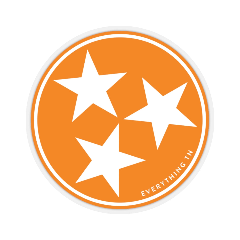 Orange Tristar Sticker