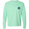 Mint Tristar Pocket Tee - Comfort Colors Long Sleeve