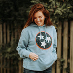 Titans Themed Pigment Dyed Tristar Hoodie