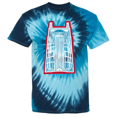 Retro Batman Building Tie-Dye Tee