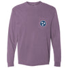 Berry Tristar Pocket Tee - Comfort Colors Long Sleeve