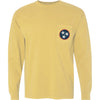Navy/Gold Tristar Pocket Tee - Comfort Colors Long Sleeve