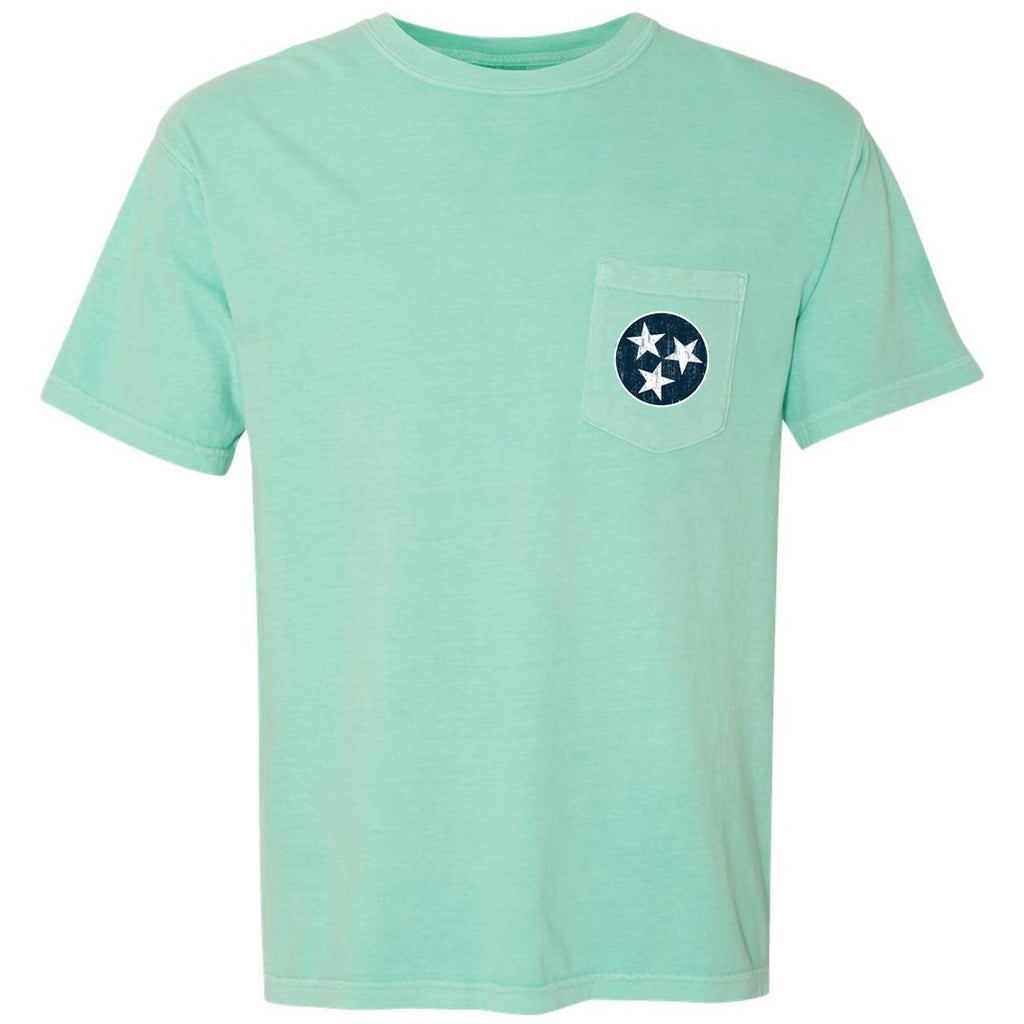 Mint Tristar Pocket Tee - Comfort Colors