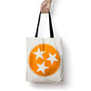 Orange Tristar Tote Bag