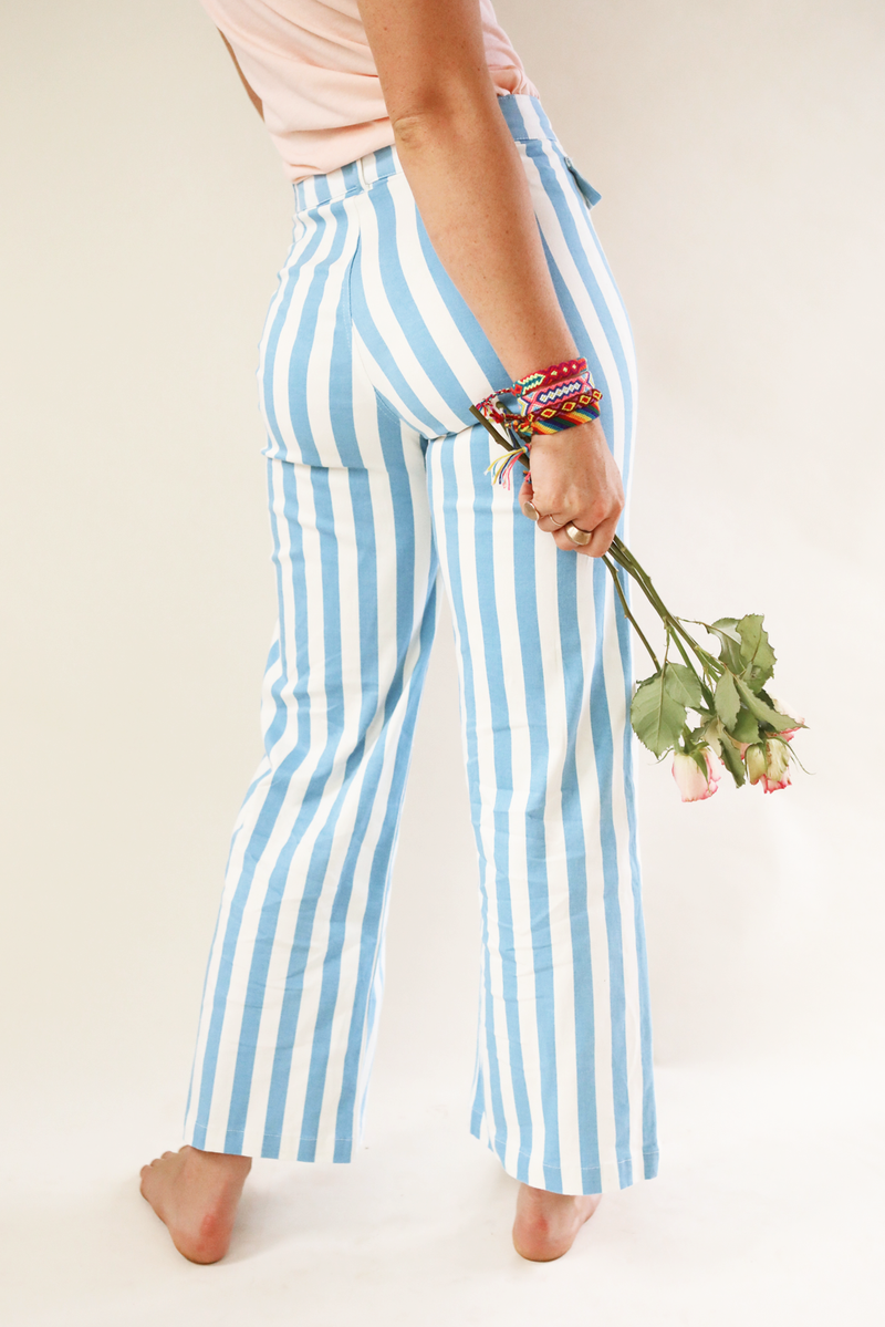 Woody Pant ~ Blue Stripe