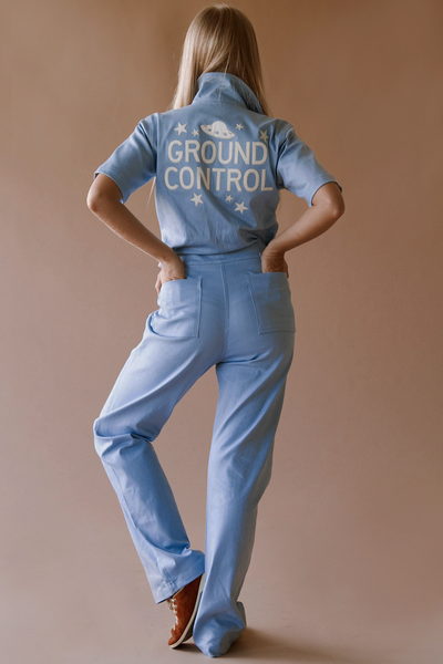 Ground Control Coveralls ~ Baby Blue