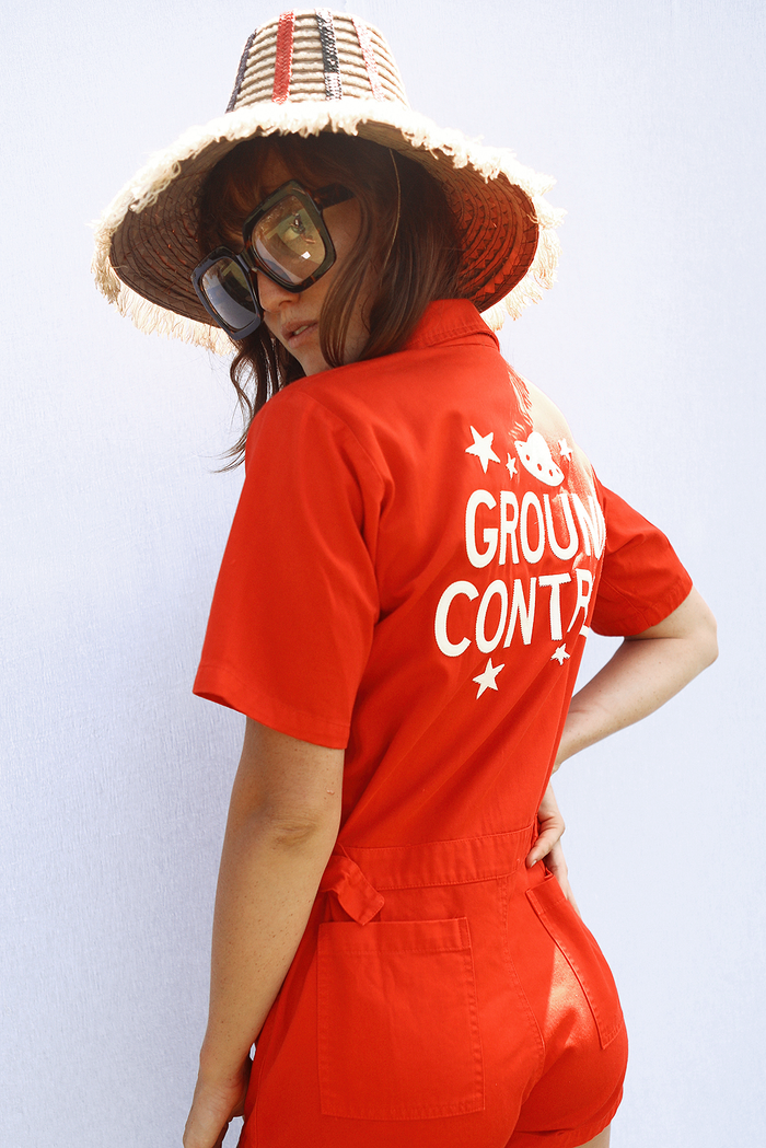 Ground Control Romper ~ Tomato | new improved fit!