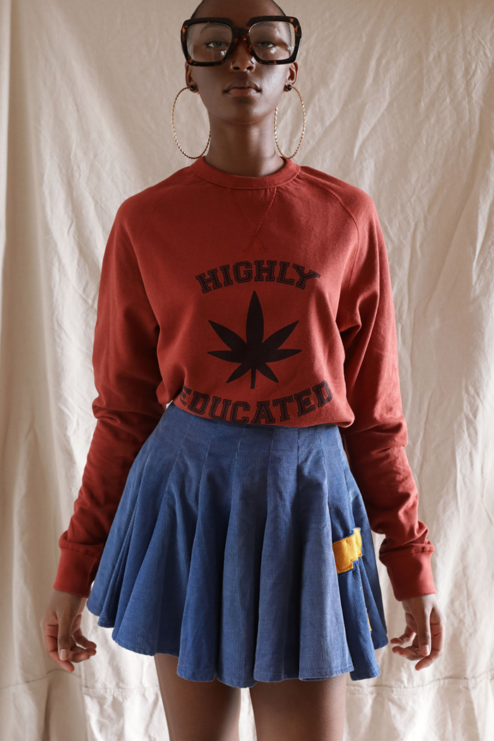 Highly Educated ~ cinnamon raglan crew