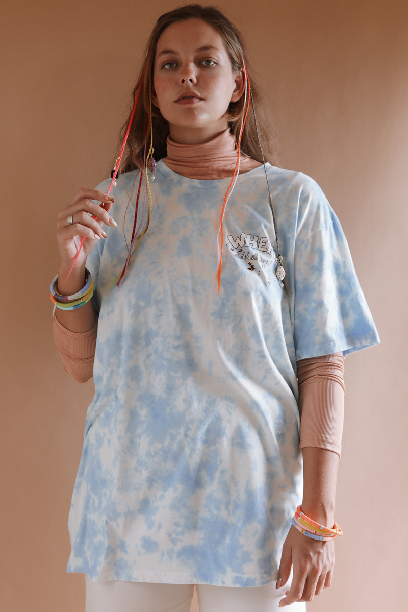 Howzit Gong To End? ~ tie dye tee shirt dress (online only)