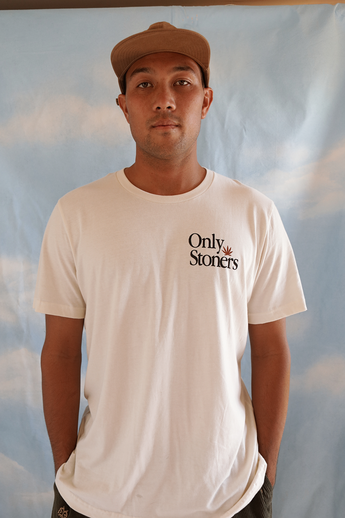 Only Stoners shortsleeve tee ~ cream