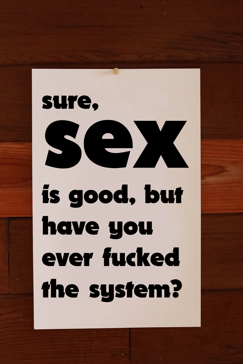 FUCK THE SYSTEM ~ POSTER