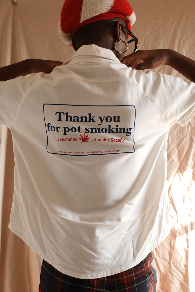 Thank You For Pot Smoking ~ Bowling Shirt