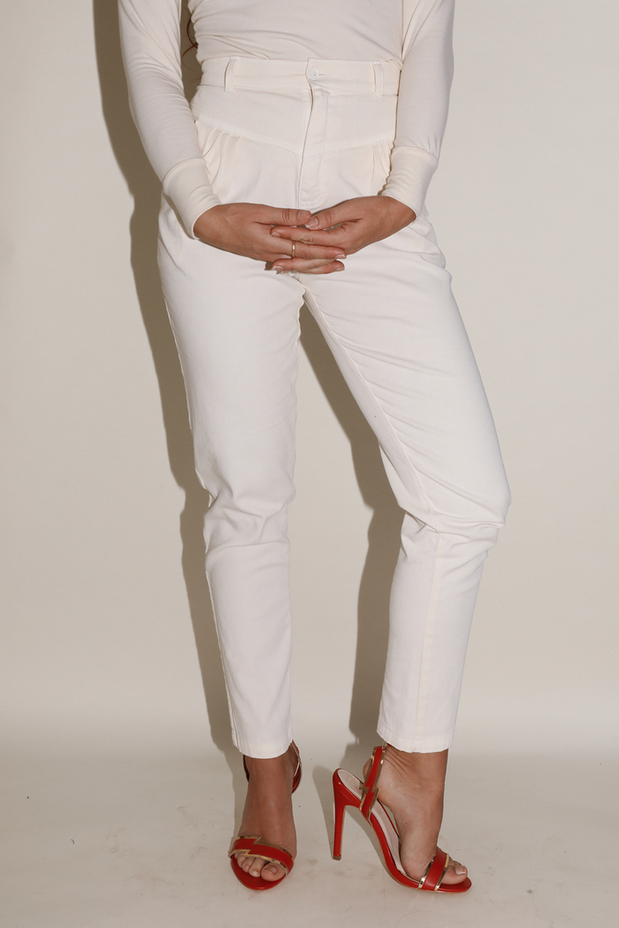 Duran Pant ~ Cream Super Stretch Twill