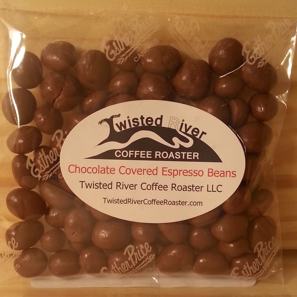 4 oz. bag Milk Chocolate Covered Espresso Beans – Twisted River ...