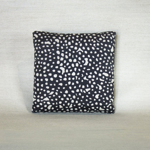 100% Down filled small accent pillow in Starry, black