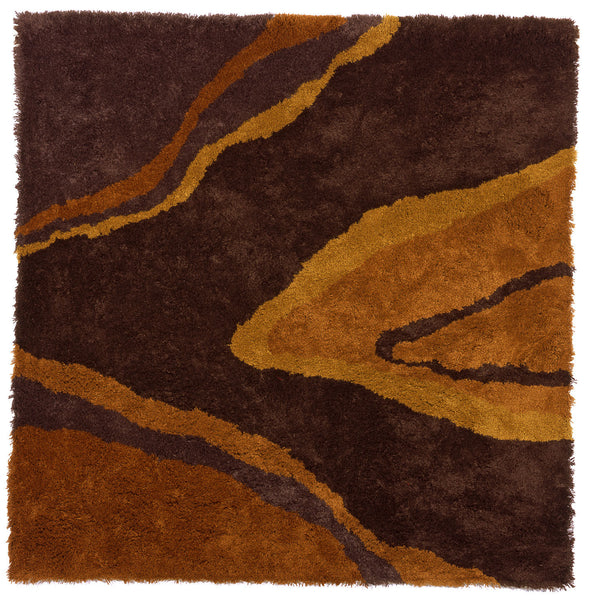 Modern shag area rug, inspired by the underside of fresh bark