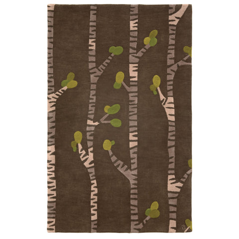 Modern area rug - inspired by the unique spleandor of the Birch Tree.