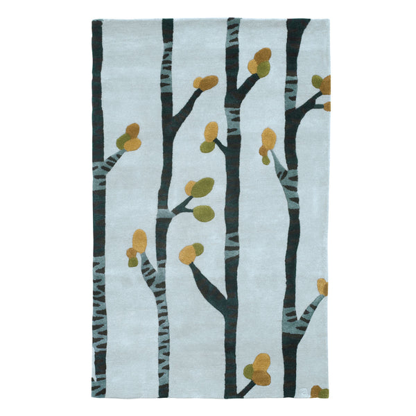 Modern area rug, inspired by the unique spleandor of the Birch Tree