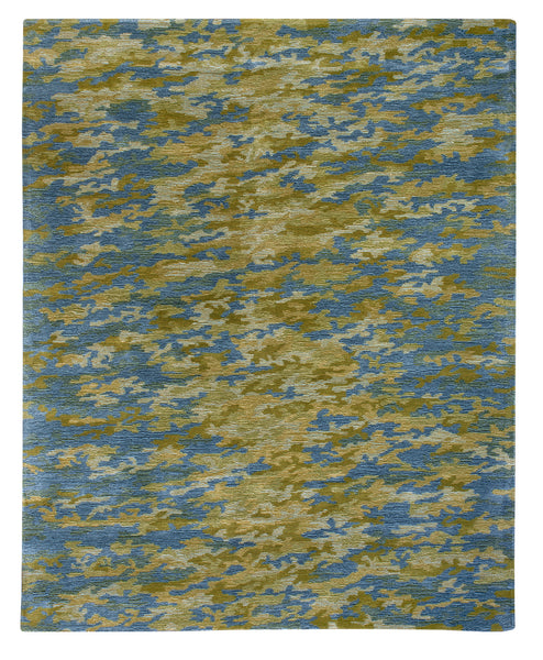 Modern area rug inspired by the soothing explosions of the Aurora Borealis