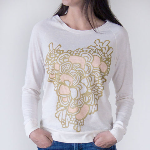 Ladies Swirls Sweatshirt White