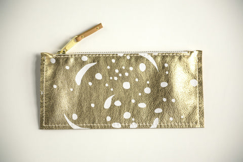 Cosmic Sun - Leather Clutch