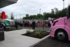 Jim Hartman addressing guests during TEI's Ribbon Cutting for their newest commercial truck dealership in Hagerstown, MD.