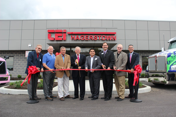 Truck Enterprises Hagerstown, Inc.'s Ribbon Cutting for their newest commercial truck dealership in Hagerstown, MD.