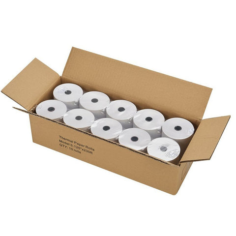 "Thermal Paper 3-1/8"" x 230' Pos Receipt Paper, 10 Rolls Cash Register Roll"
