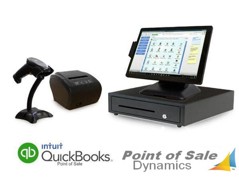 All in One Retail Point of Sale Bundle Featuring QuickBooks POS V18 Basic