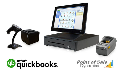 Retail Point of Sale Barcode Printing Bundle Featuring QuickBooks POS V18 Basic
