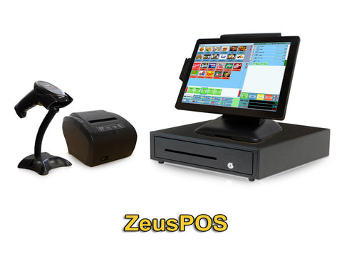 Retail Point of Sale Bundle includes ZeusPOS Retail (Monthly w/support $24.99)