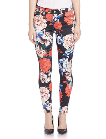 7 For All Mankind - Mid Rise Skinny Ankle in Peony Floral
