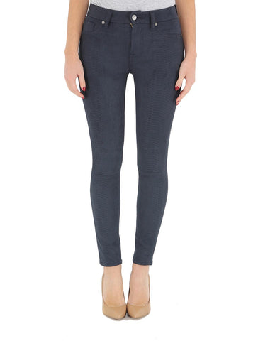 7 For All Mankind - High Waisted Ankle Knee Seam Skinny in Navy