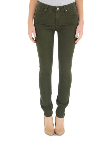 7 For All Mankind - Mid Rise Skinny in Hunter Green