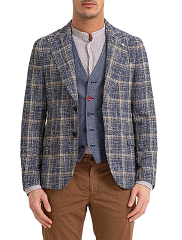 SOFT KNIT PEAK LAPEL BLAZER - MANUEL RITZ
