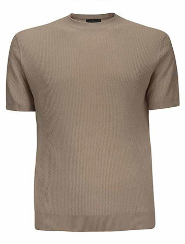 KNIT SHORT SLEEVE CREWNECK - FERRANTE