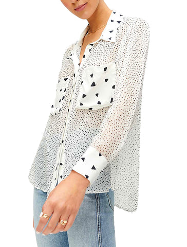 Patch Pocket Print Combo Top - 7 FOR ALL MANKIND