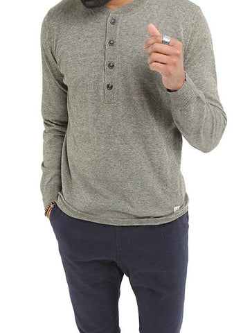 Knit Long Sleeve Henley - CP COMPANY
