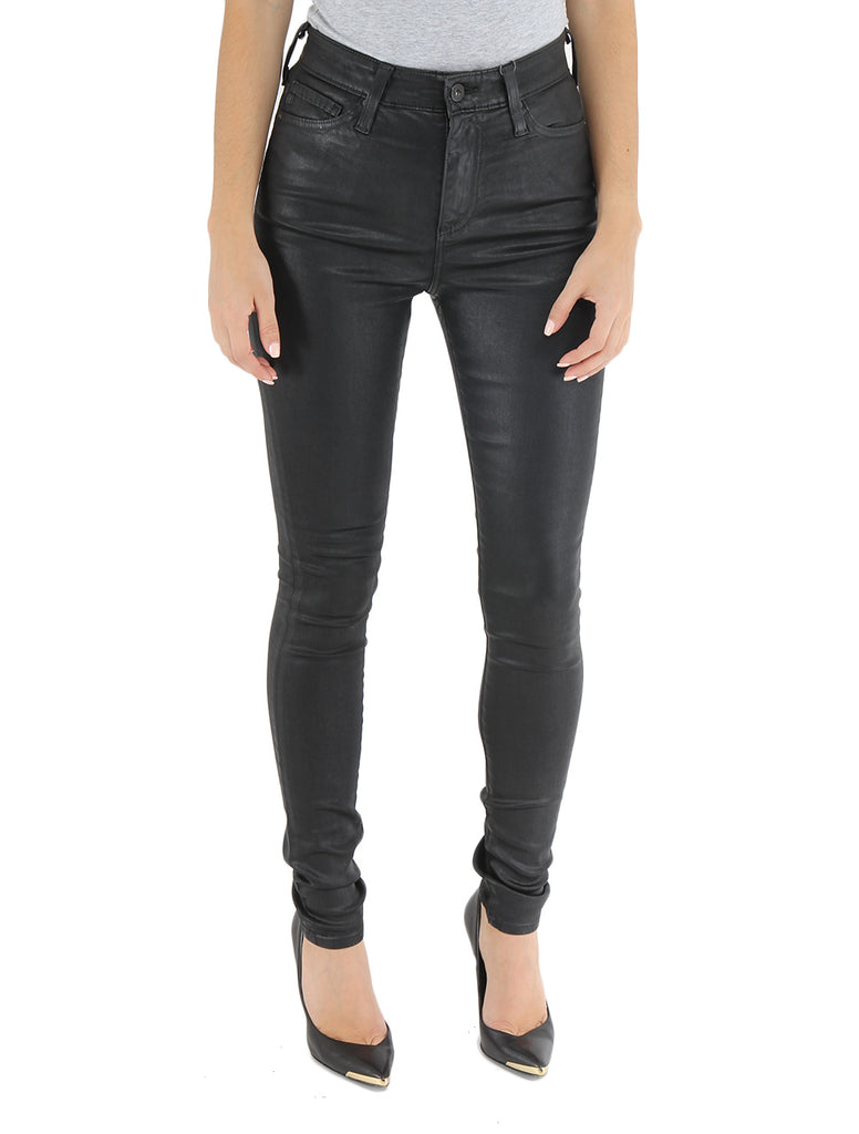 Mila in Leatherette Super Black - AG JEANS