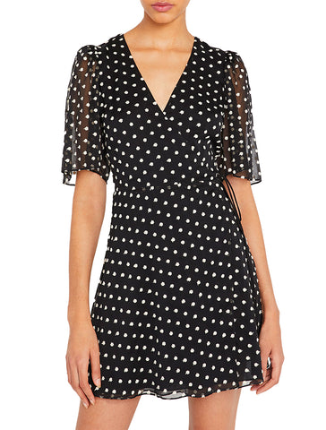 Sandra Angel Sleeve Wrap Dress - ALICE AND OLIVIA