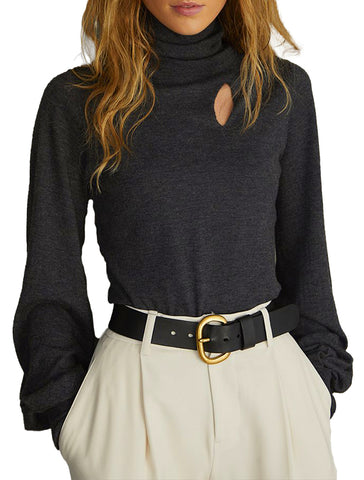 Juliette Sleeve Turtleneck - AUTUMN CASHMERE