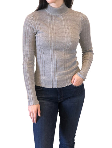 Shadow Stripe Mock Neck - AUTUMN CASHMERE