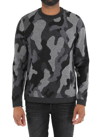 Wool Camo Sweater - BENSON