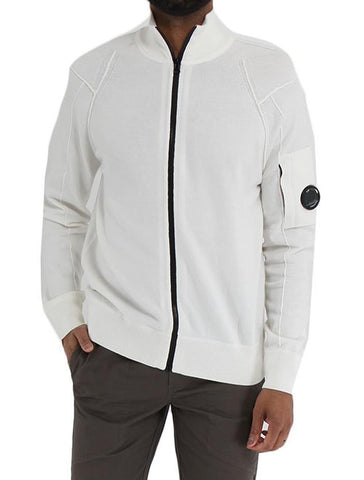 Sea Island Cotton Lens Full Zip Sweater - CP COMPANY