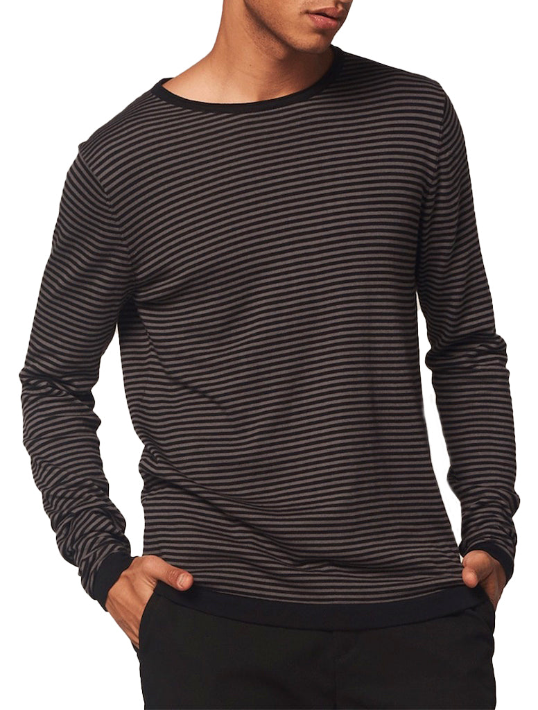 STRIPE COTTON CREWNECK - DSTREZZED