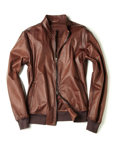 FLIP LEATHER BOMBER - FRADI
