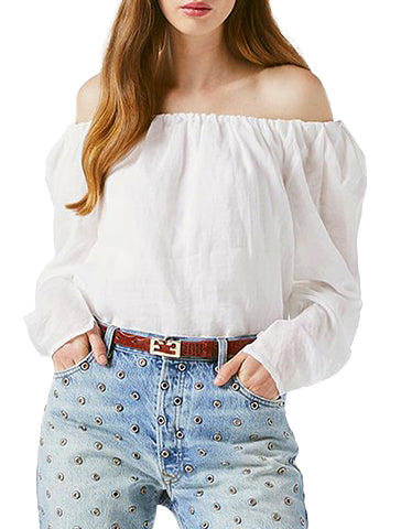 Off The Shoulder Billow Top - FRAME
