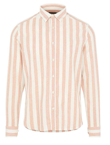 COTTON LINEN STRIPE SHIRT - J LINDEBERG