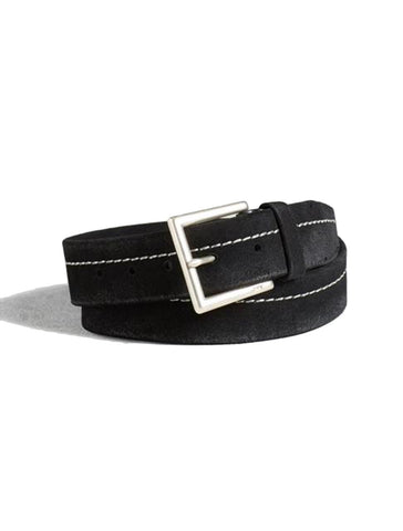Waxed Suede Belt - JOHN VARVATOS